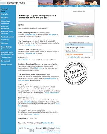 Aldeburgh's old website