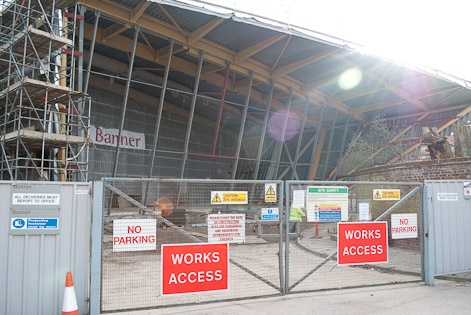 firstsite's new front entrance, in progress