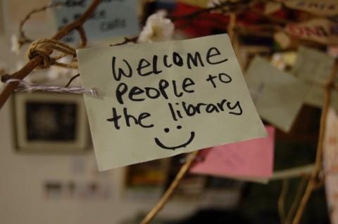 Glasgow Women's Library Volunteer Week tree - photo (c) Glasgow Women's Library