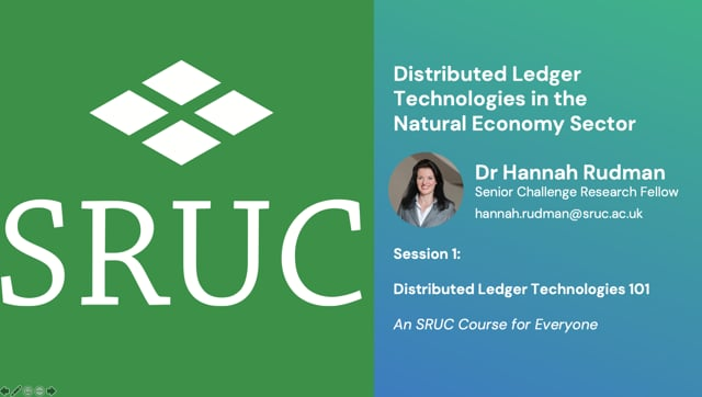 DLT in the natural economy: Session 1